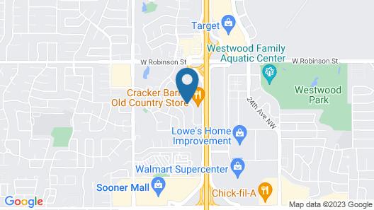 Comfort Inn & Suites Norman near University Map