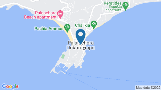 Cozy & New Flat at the Heart of Paleochora Map