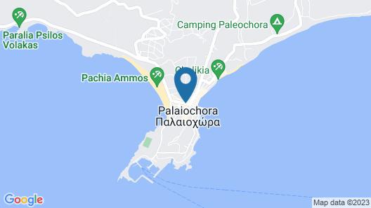 Polydoros Hotel Apartments Map