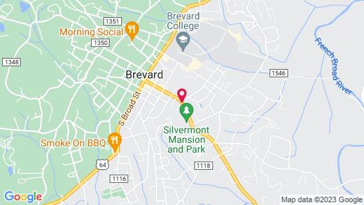 The Inn at Brevard Map