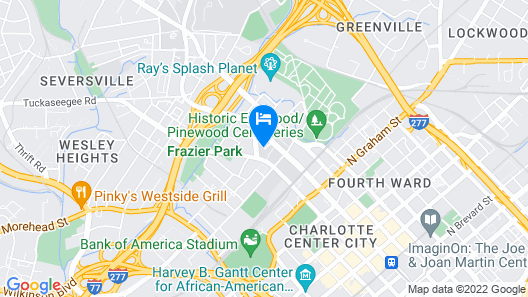 DoubleTree by Hilton Hotel Charlotte Map