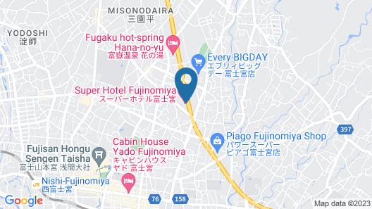 Super Hotel Fujinomiya Map