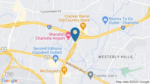 Sheraton Charlotte Airport Hotel Map