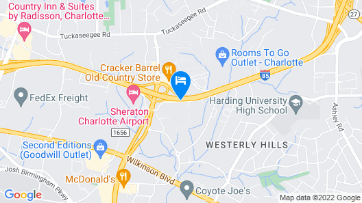 SpringHill Suites by Marriott Charlotte Airport Map