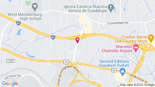 Hampton Inn & Suites Charlotte Airport Map