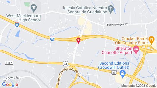 Holiday Inn Charlotte Airport, an IHG Hotel Map