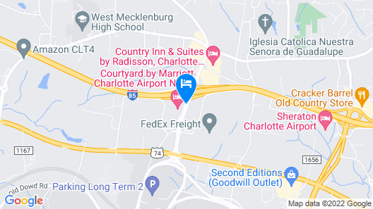 Holiday Inn Charlotte Airport Map