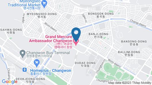 Grand Mercure Ambassador Changwon (ex Pullman) Map