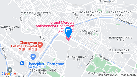 Grand Mercure Ambassador Changwon (ex Pullman) Map