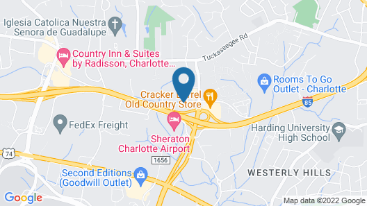 Econo Lodge Inn & Suites Airport Map