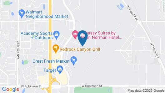 Hampton Inn & Suites Norman-Conference Center Area Map