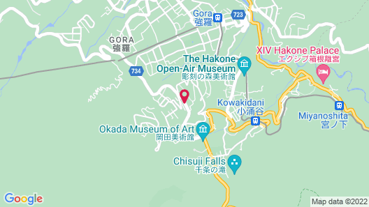 Hakone Ryori Yado Kyuan Map