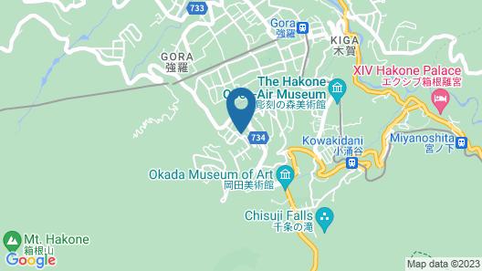 Hakone Gora Byakudan Map