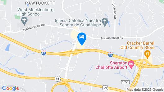 Days Inn by Wyndham Charlotte Airport North Map