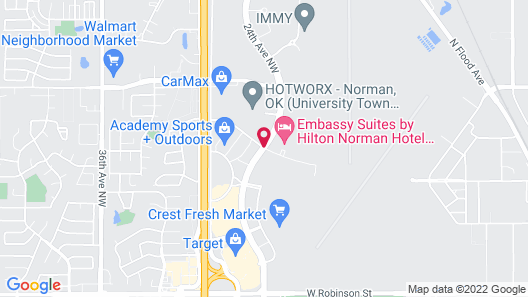 Holiday Inn Express & Suites Norman Map