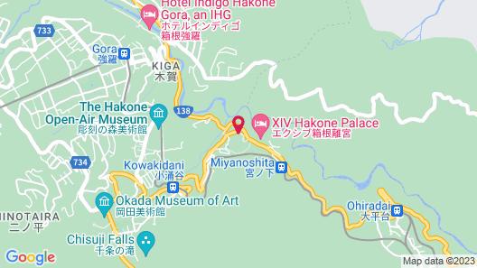 Fujiya Hotel Map