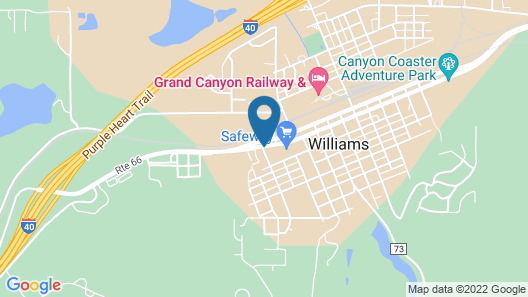 Motel 6 Williams, AZ - West - Grand Canyon Map