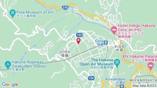 Hakone Gora Ryoan Kanon Map