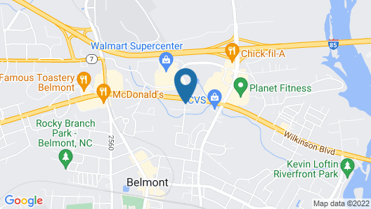 Home2 Suites by Hilton Charlotte Belmont Map