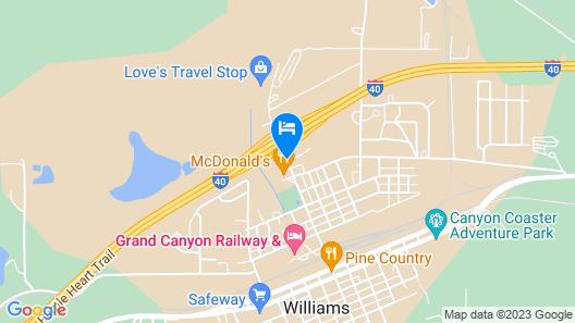 Ramada by Wyndham Williams/Grand Canyon Area Map