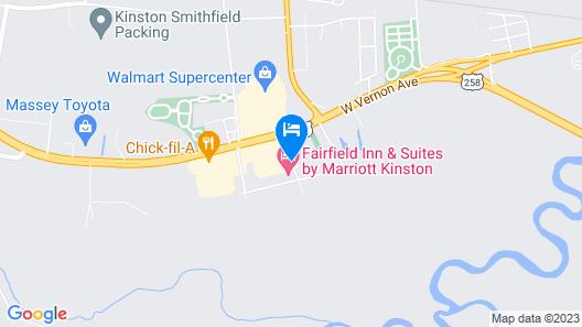 Fairfield Inn & Suites Kinston Map