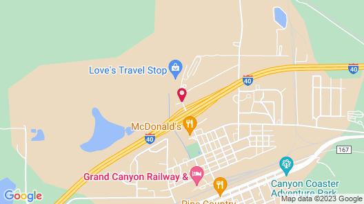 Quality Inn Near Grand Canyon Map
