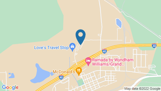 Grand Canyon RV Glamping Map
