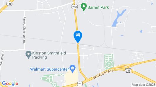 Hampton Inn Kinston Map