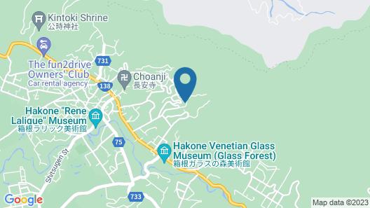 Hakone Sky Hill Private Nature Villas & Hotsprings Map