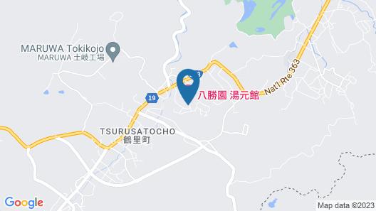 Hasshoen Yumotokan Map