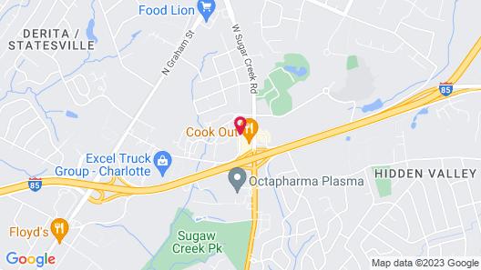 Super 8 by Wyndham Charlotte University Map