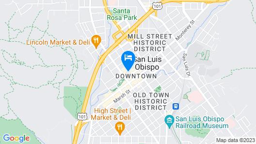 Hotel San Luis Obispo Map