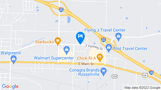 Comfort Inn & Suites Russellville I-40 Map