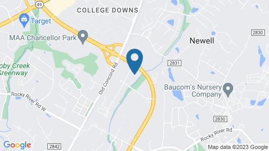Sonesta Simply Suites Charlotte University Map