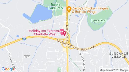 Motel 6 Gastonia, NC Map