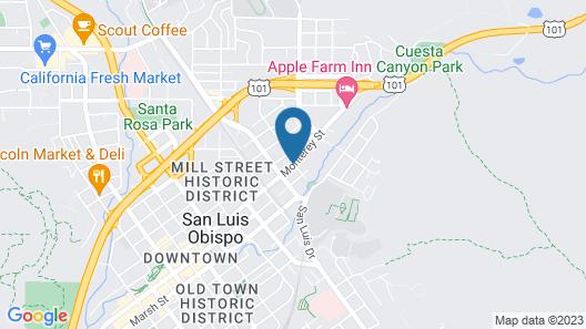Los Padres Inn Map