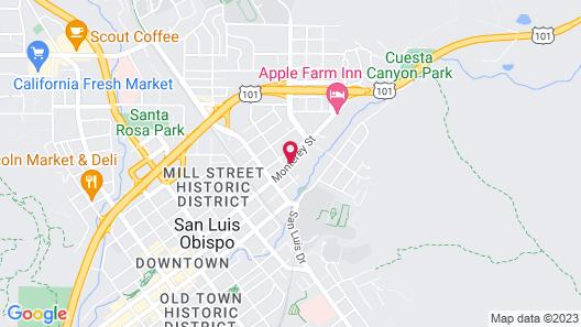 Quality Suites Downtown San Luis Obispo Map