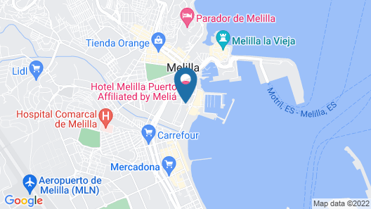 Hotel Melilla Puerto, Affiliated by Meliá Map