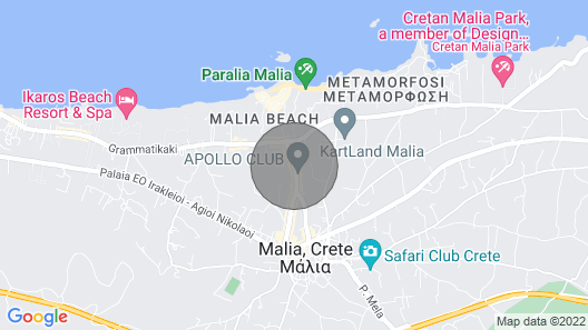 Seven Villas With Spectacular sea Views and a Private and Relaxing Atmosphere Map