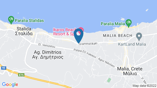 Paradise Hotel Apartments Map