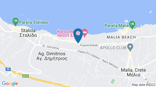 Kyknos Beach Hotel & Bungalows - All Inclusive Map