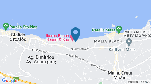 Ikaros Beach Resort & Spa Map