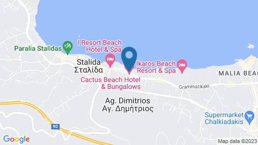 Caravel Apartments Stalis Map