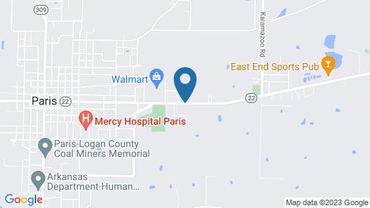 Paris Inn Map