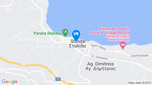 Zephyros Beach Boutique Hotel Map