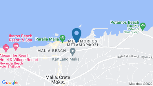 Pyrgos Beach Hotel Apartments Map