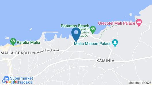 Malia Bay Beach Hotel & Bungalows Map