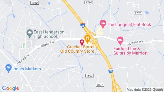 Quality Inn & Suites Hendersonville - Flat Rock Map