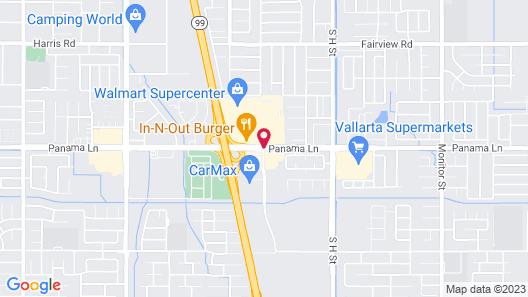 Vagabond Inn Bakersfield South Map