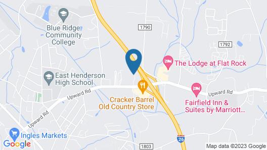 Holiday Inn Express & Suites Hendersonville SE - Flat Rock, an IHG Hotel Map